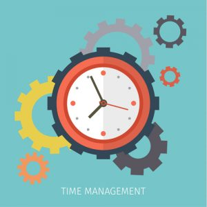 Flat design vector business illustration. Concept of effective time management.